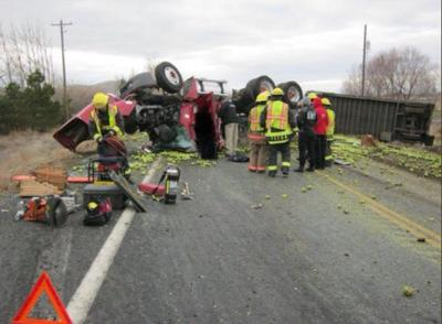 Semi-truck driver dies in crash on State Route 24   Local
