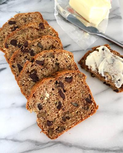 Zucchini Bread with Dark Chocolate and Walnuts