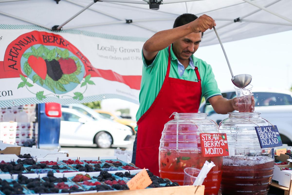 Blackberry Island drink at the Yakima Farmers' Market