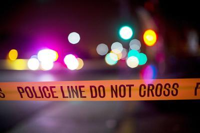 police tape crime scene generic standing