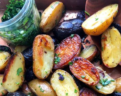 Kitchen Captivated: Crispy Roasted Potatoes with Gremolata