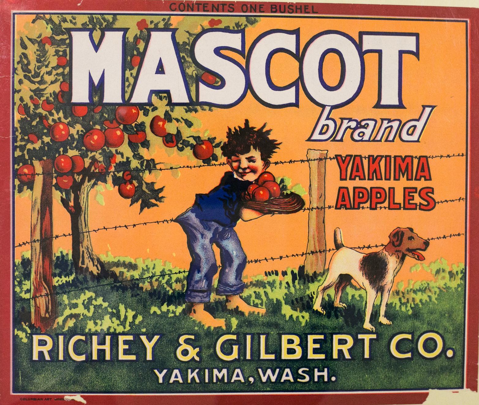 Yakima Washington Moon Apple Fruit Crate Label Art Print