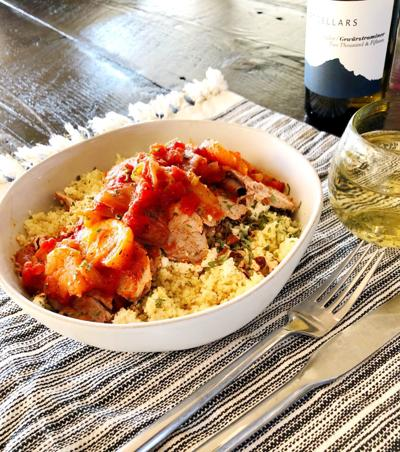 Pork Tenderloin with Apricots and Figs over Couscous