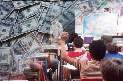 classroom cash school class students teachers money
