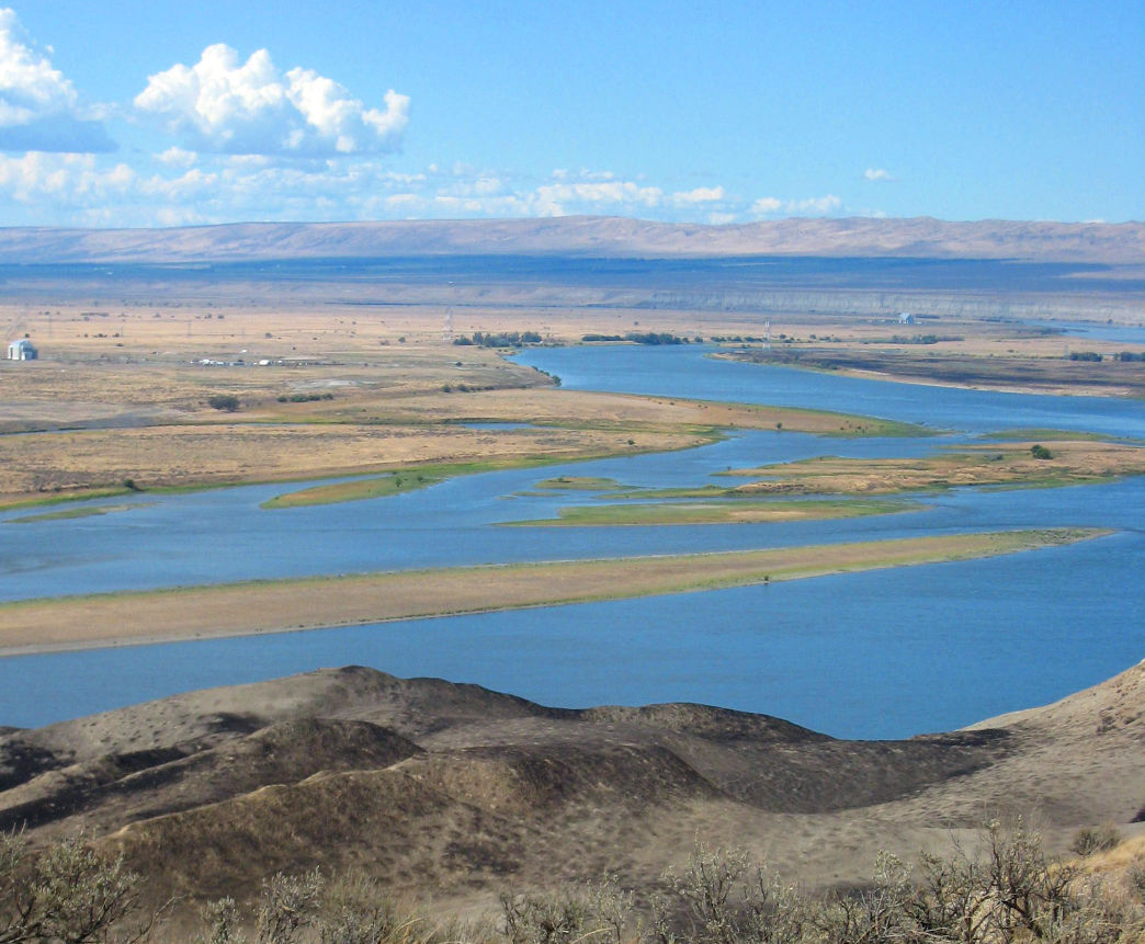 Columbia river hanford reach standing