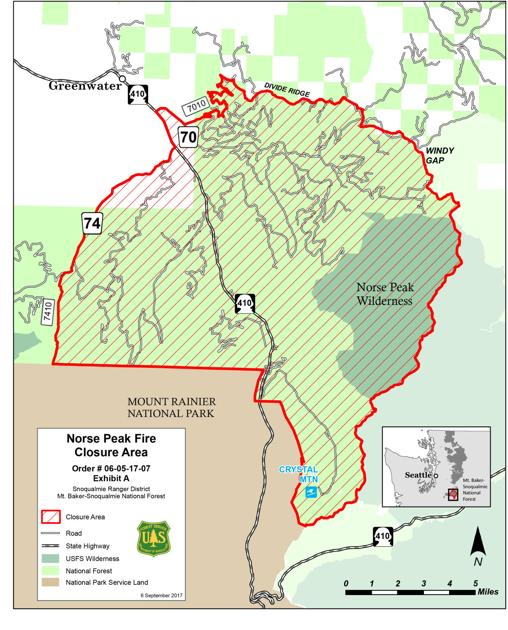Norse World Map.Norse Peak Forest Closure Map Yakimaherald Com