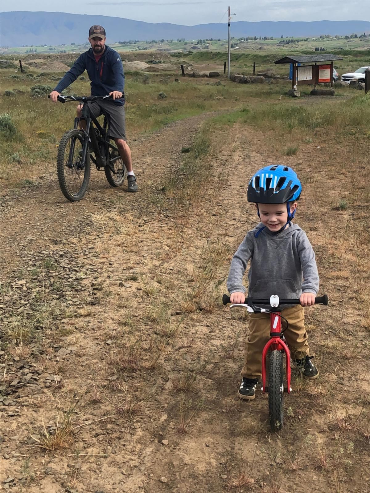 resized nugget biking 1 all nuggets on tieton river trail.jpg