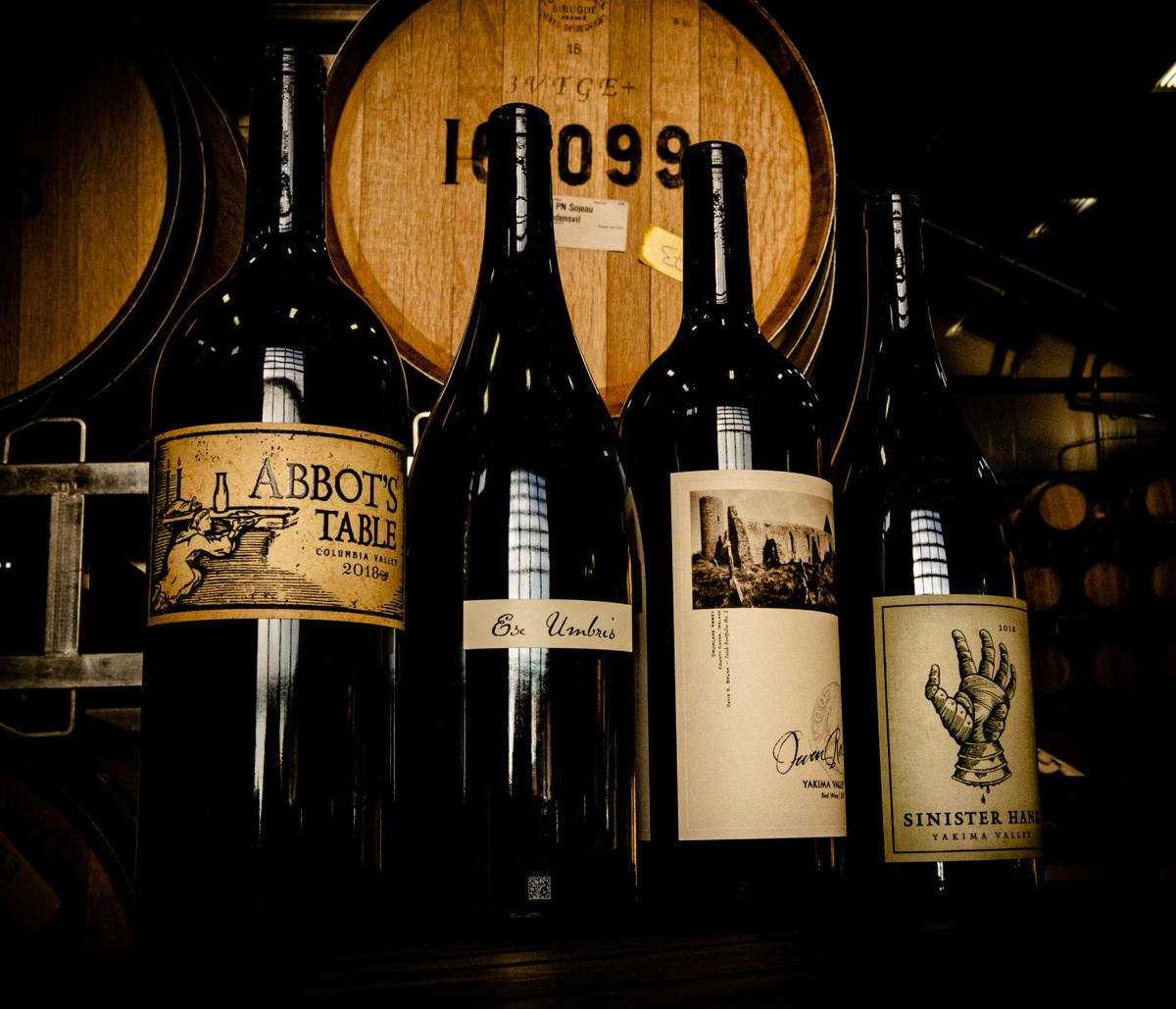 wine scene holiday magnums