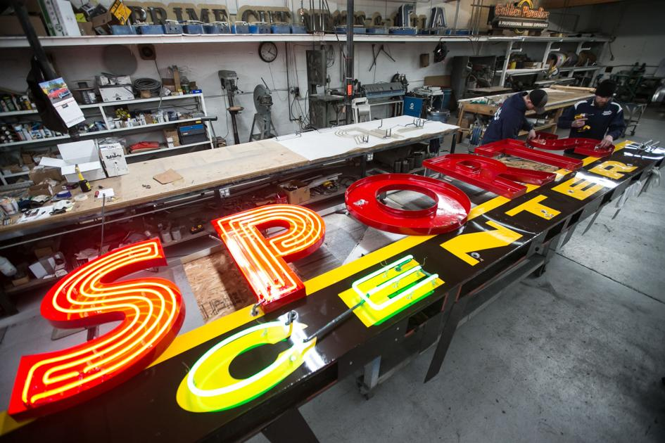 Sports Center's iconic hunter getting back to its roots at sign shop