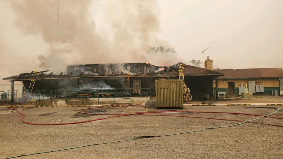 A fire at the Yakama Power building south of Toppenish Saturday caused and estimated $450,000 in damage.