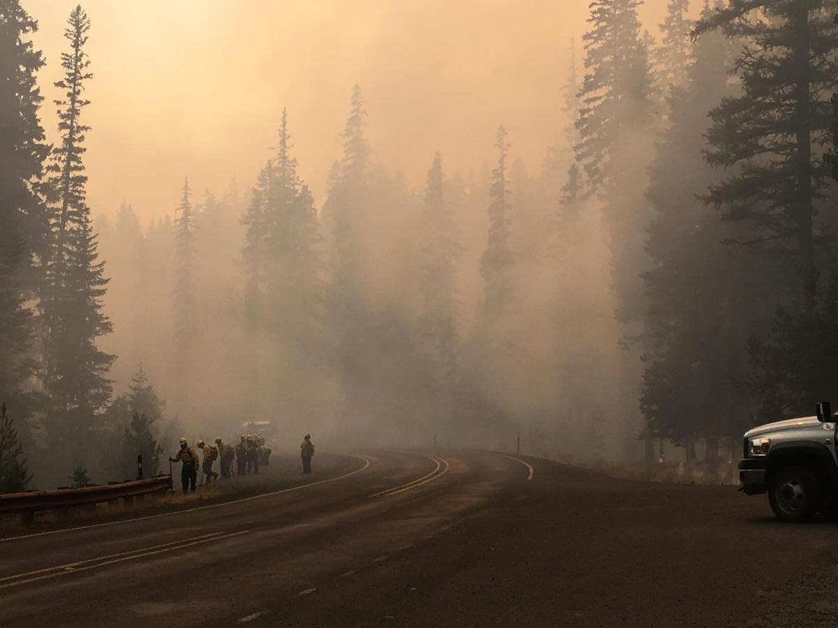 Governor Visits Jolly Mountain Fire Norse Peak Fire Closes Part Of