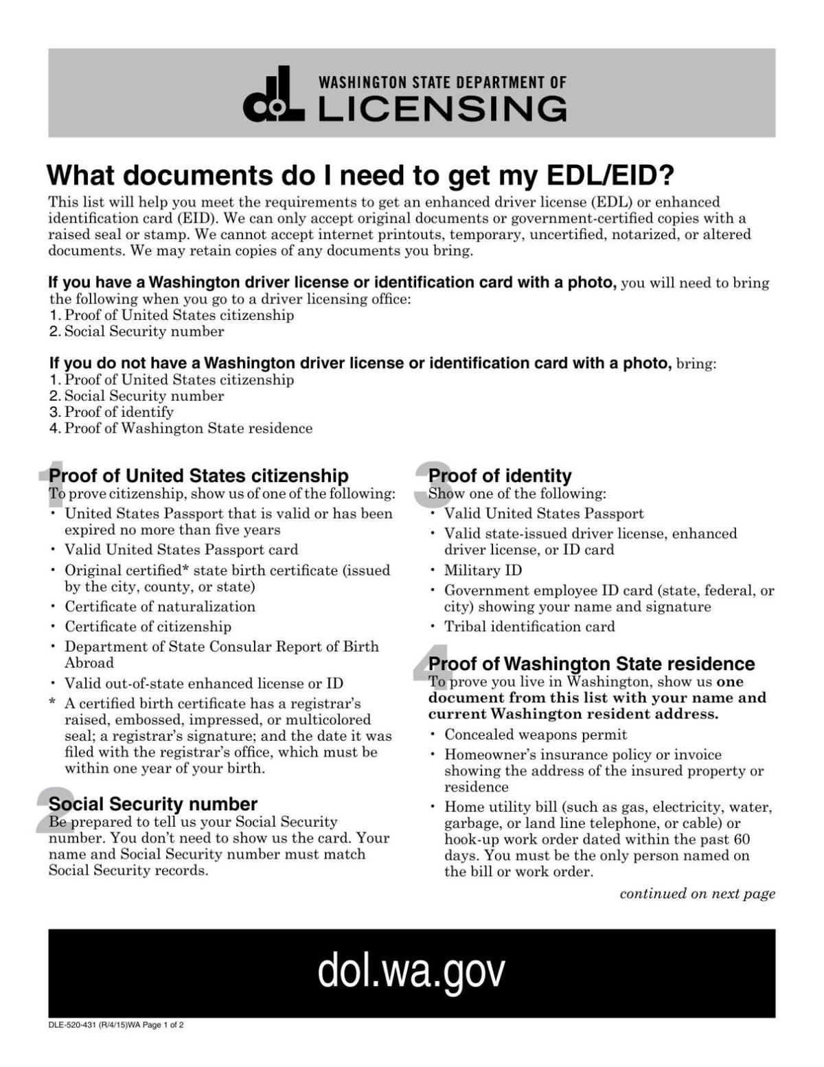 how to apply for wa state enhanced drivers license