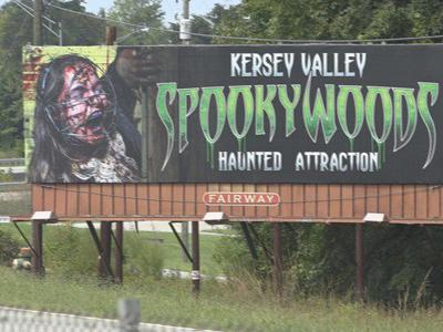 NC Haunted House billboards called to be taken down by some due to criticism of promoting certain imagery.