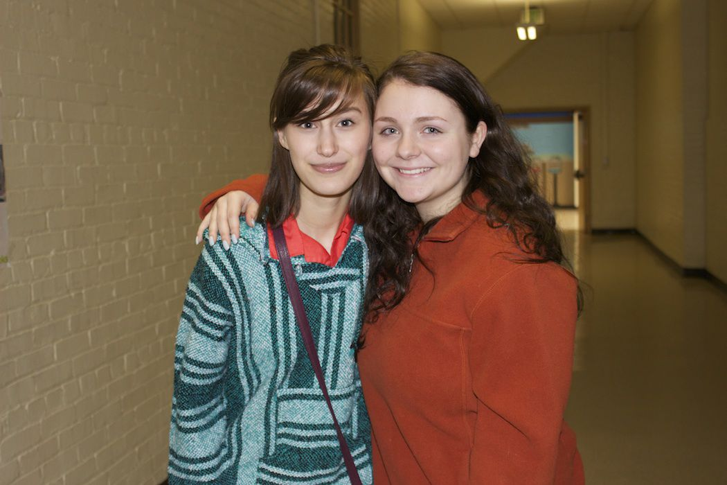 Victoria Danielik (left) and Mia Lerner (right) the co-organizers for Penn-Griffin's walkout