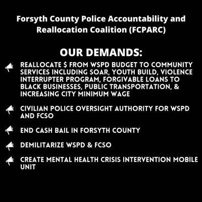 'FCPARC' calls on city officials to reallocate police funds