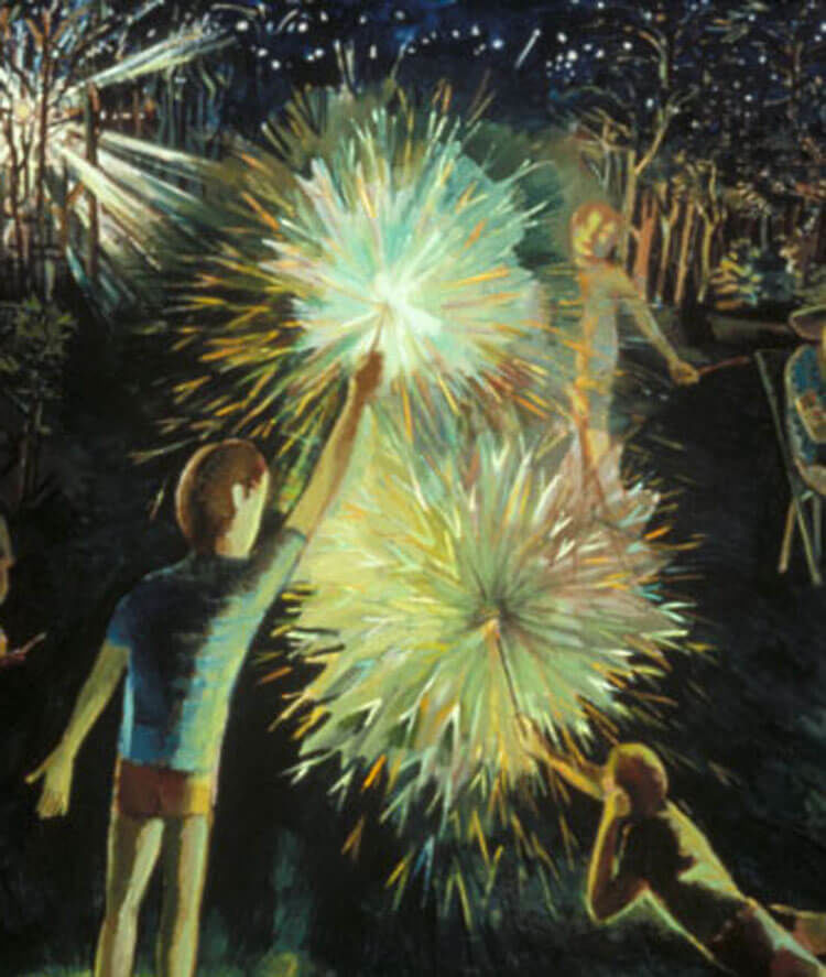 VISIONS-Roy Nydorf Kids with Sparklers detail