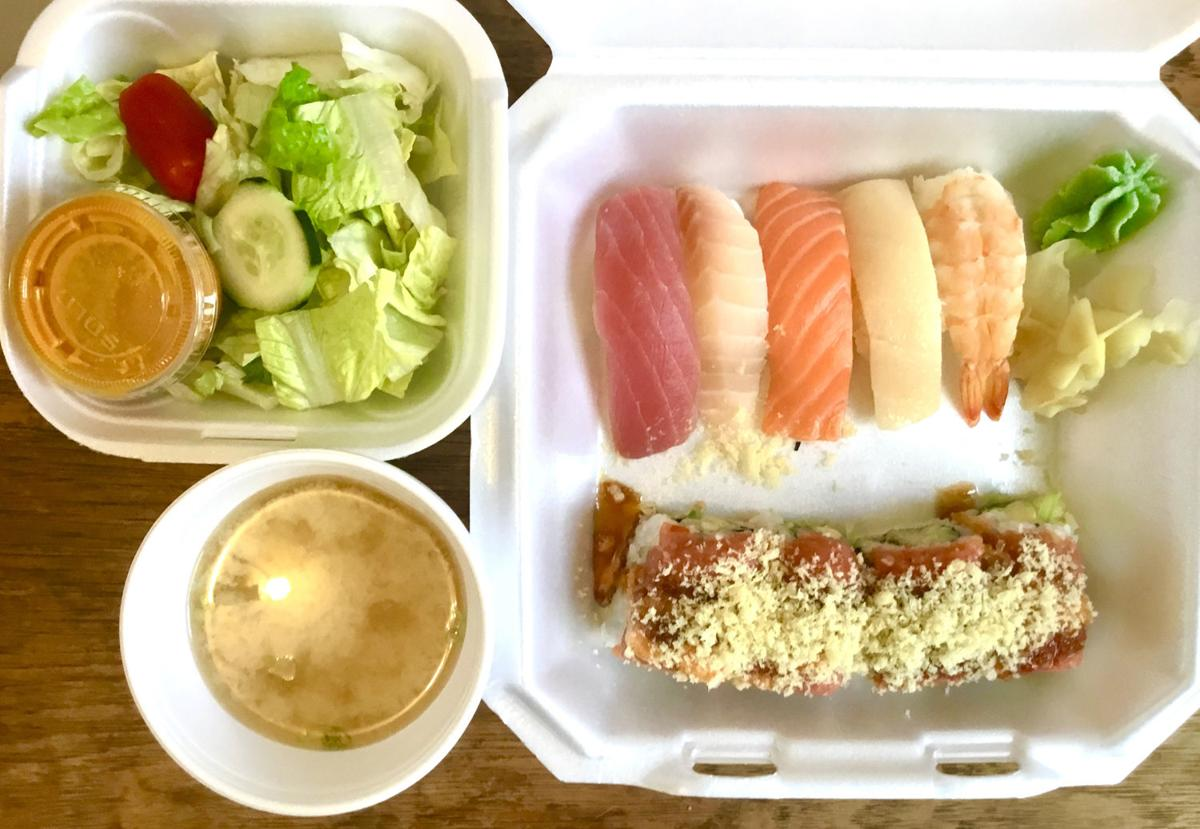 COVER-Curbside and takeout lunch special from Sushi Republic.JPG