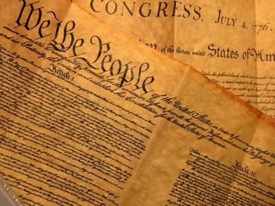 Three delegates from North Carolina's sign Constitution
