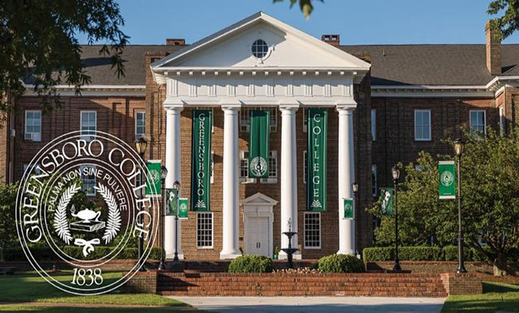 Greensboro College front buidling_seal image