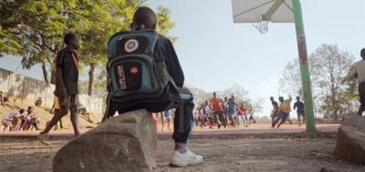 BURGER-MAIN-Children play basketball in African – courtesy RiverRun