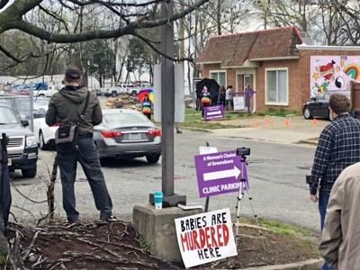 Anti-abortion protesters ignore social distancing