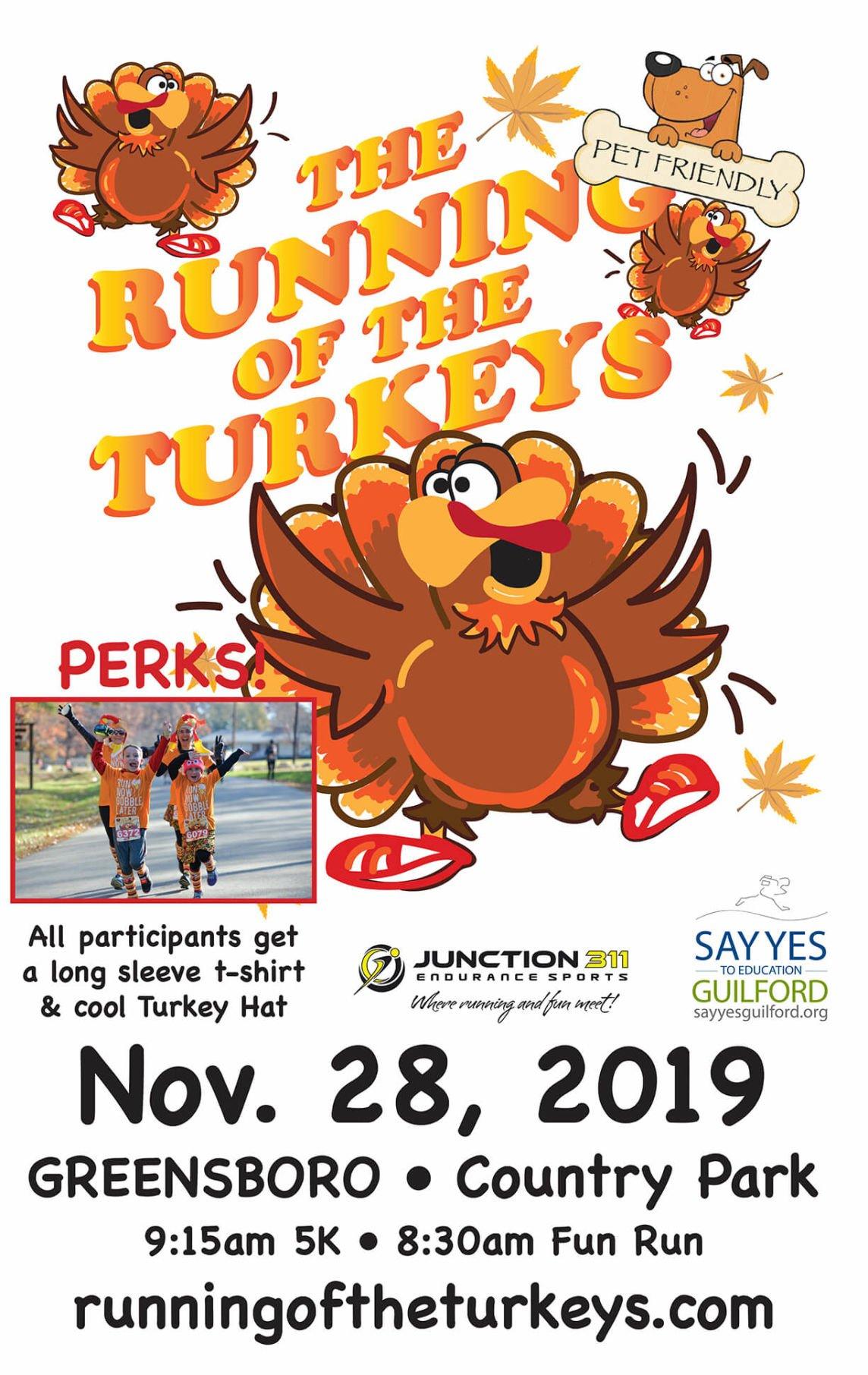 Running of the Turkeys Poster 11×17 (1)