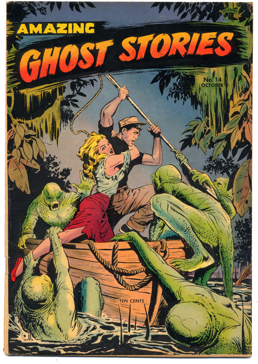 COVER-Amazing Ghost Stores 14 1954 scan provided by collector Edward Fields