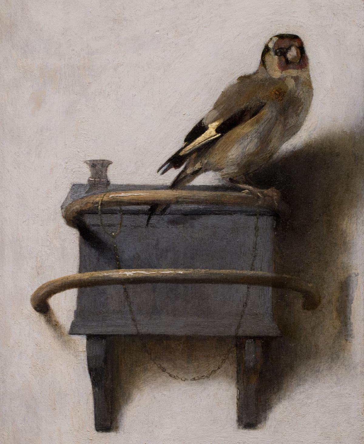 """Reproduction of """"The Goldfinch"""" painting"""