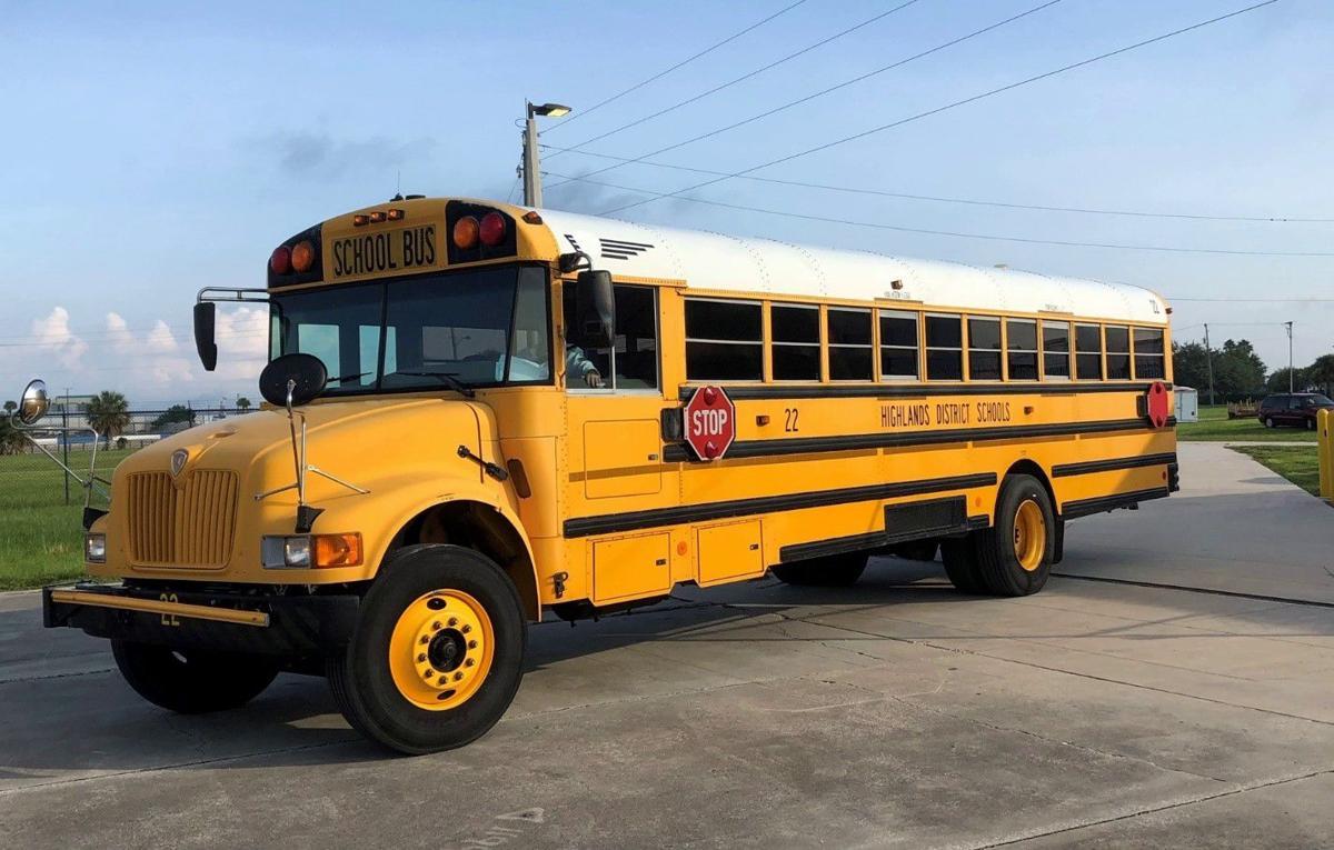 Bus arrives