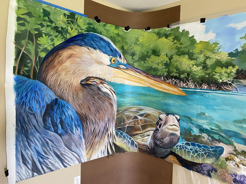 Aging PG murals get fresh coat of paint