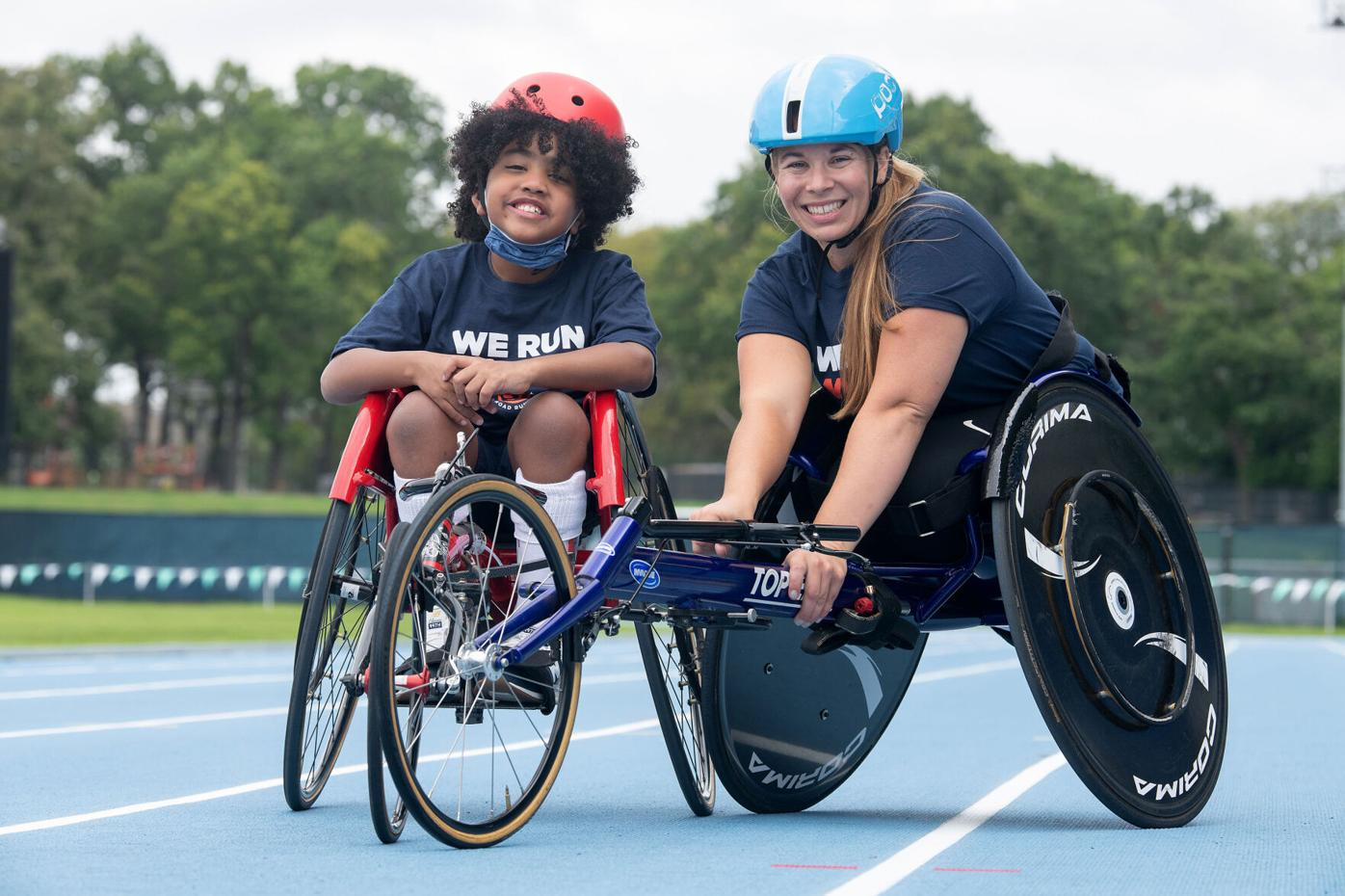 Awesome day as Paralympic veteran joins kids and their wheelchairs for long-awaited in-person workout