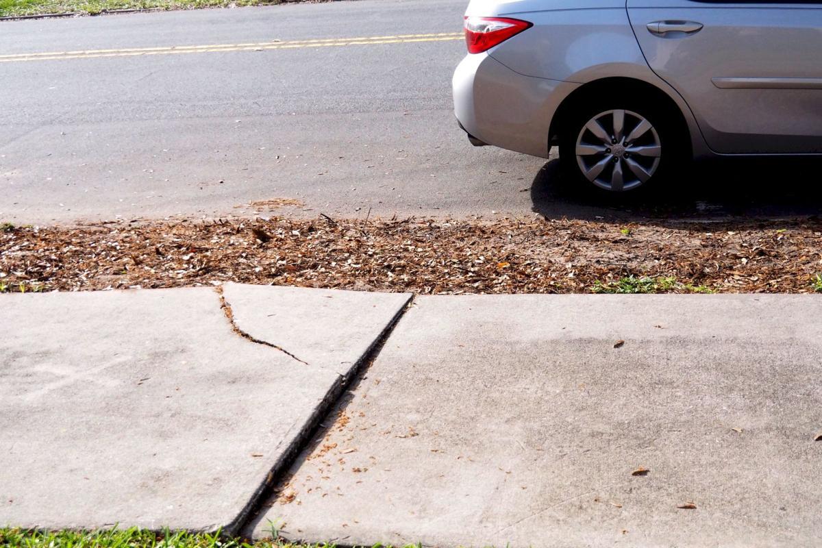 Popped up sidewalks