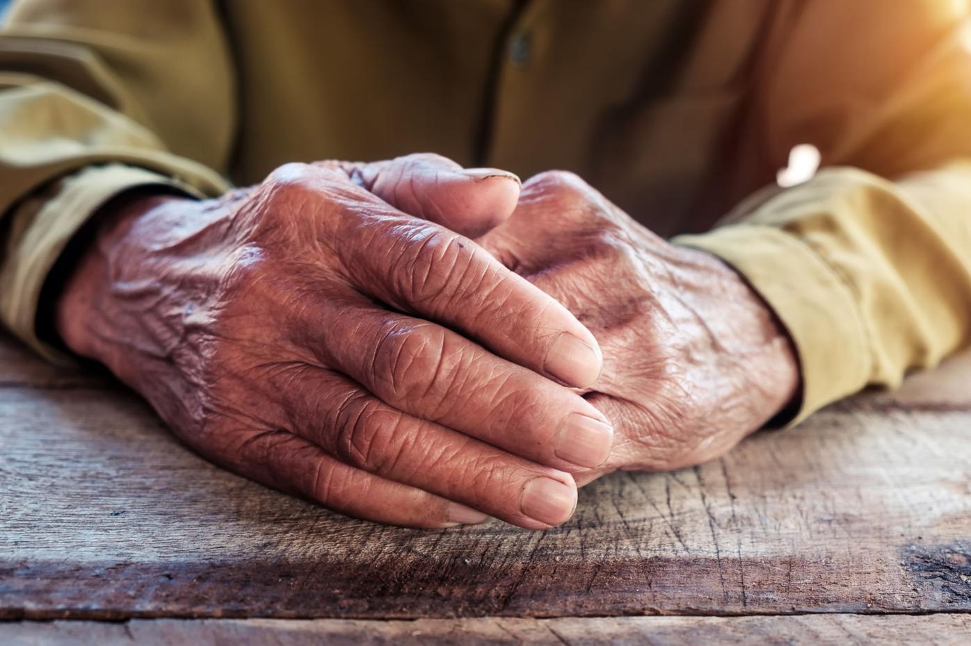 Elder's hands