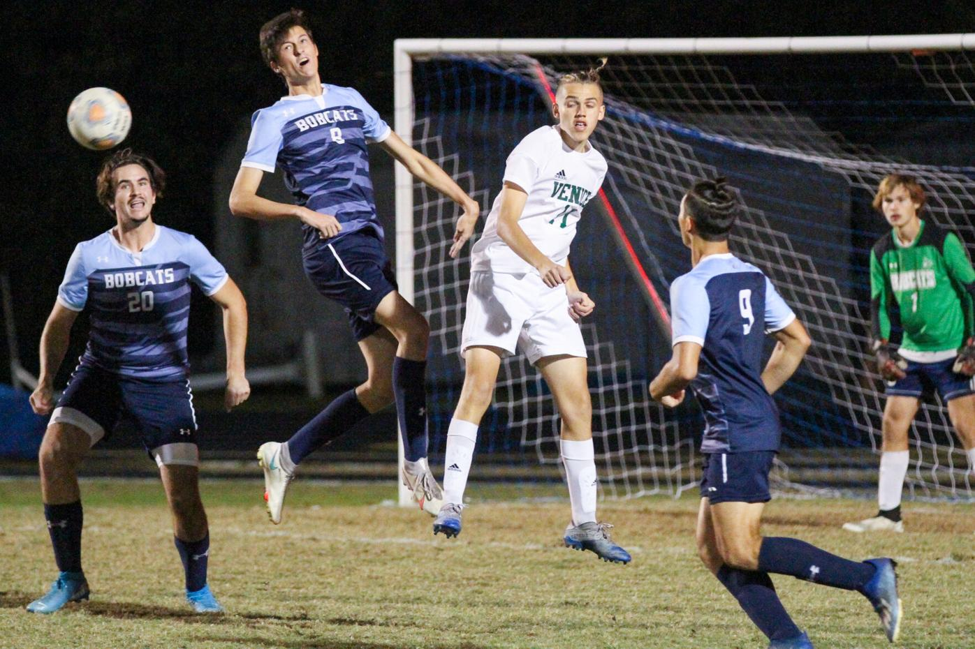 North Port's Justin Crehore and Venice's Luca Rueda