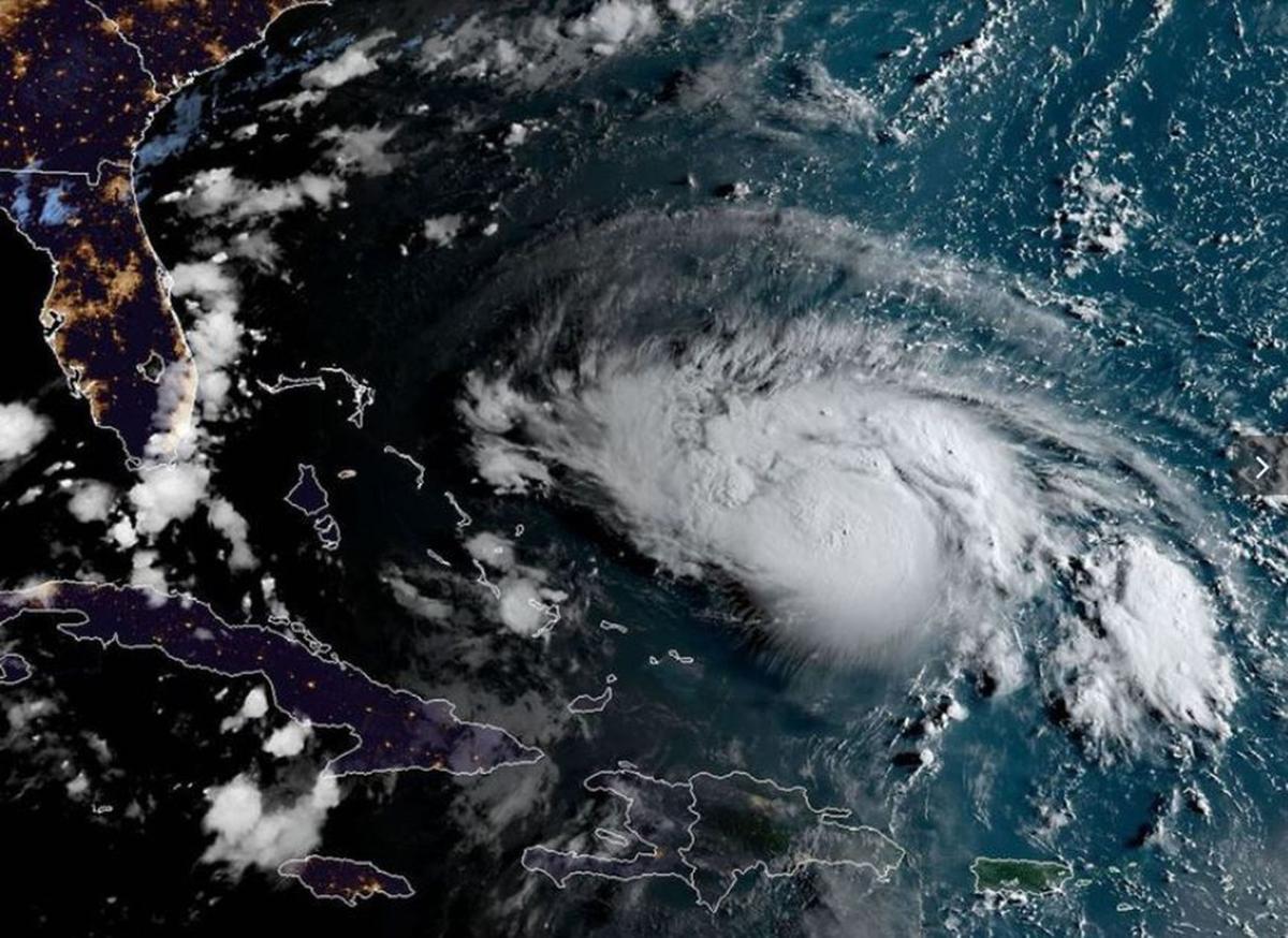 NOAA image of Hurricane Dorian