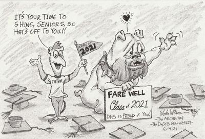 Tater cartoon for 6-9-21 Class of 21 farewell
