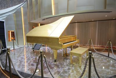 Elvis Presley's iconic 24K gold leaf grand piano debuts at Seminole Hard Rock Hotel & Casino Tampa