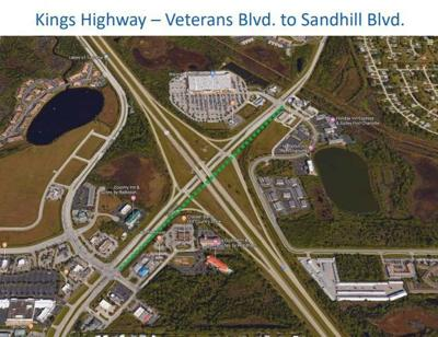 Proposed Kings Highway sidewalk under I75