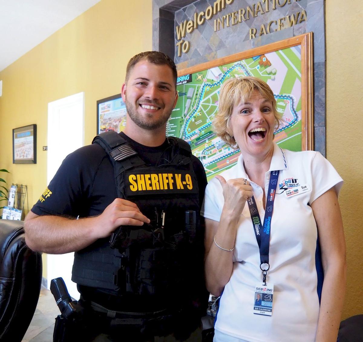 Deputy Ryan O'Gara and Sue Calderone