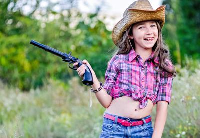 girl toy gun
