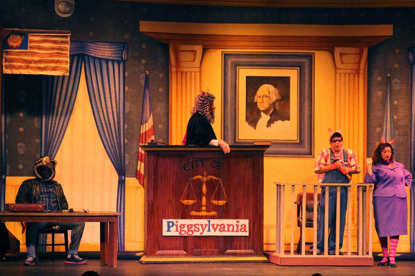 Three Little Pigs Maxwell On The Stand