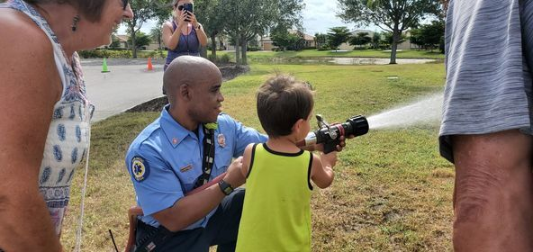 North Port Fire Rescue personnel spent part of their Saturday at Gran Paradiso