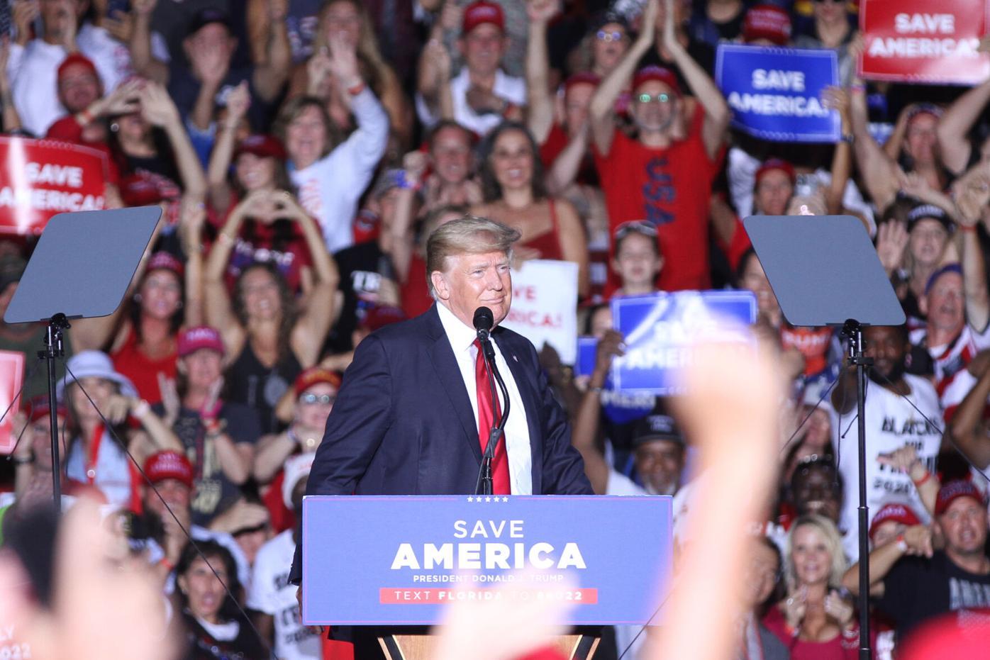 Donald Trump in Sarasota on July 3, 2021