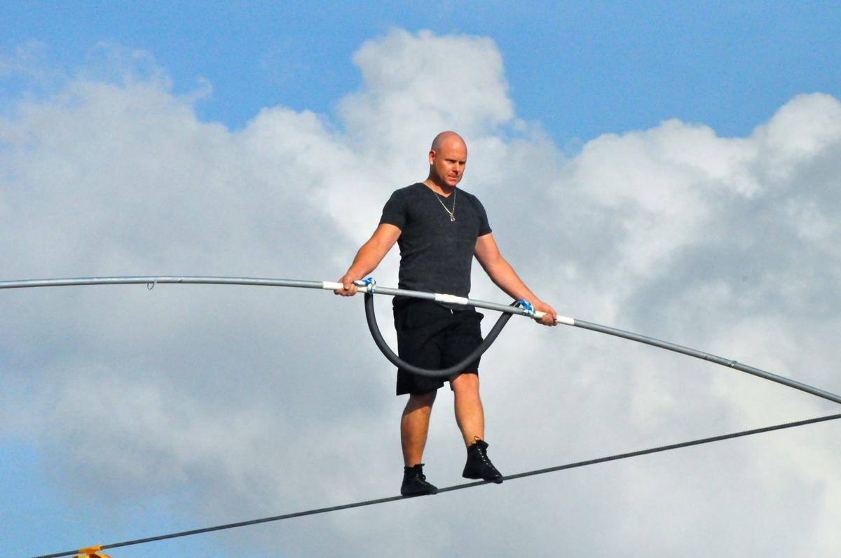 Nik Wallenda practice in Sarasota (copy)