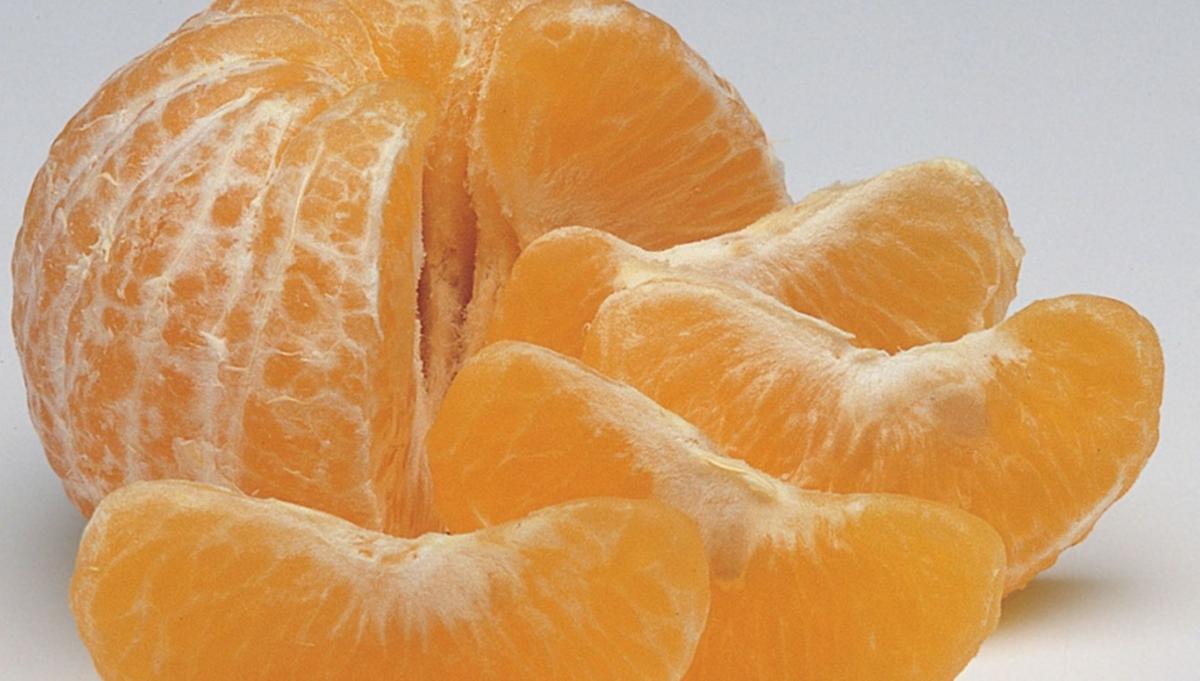 Orange ready to eat