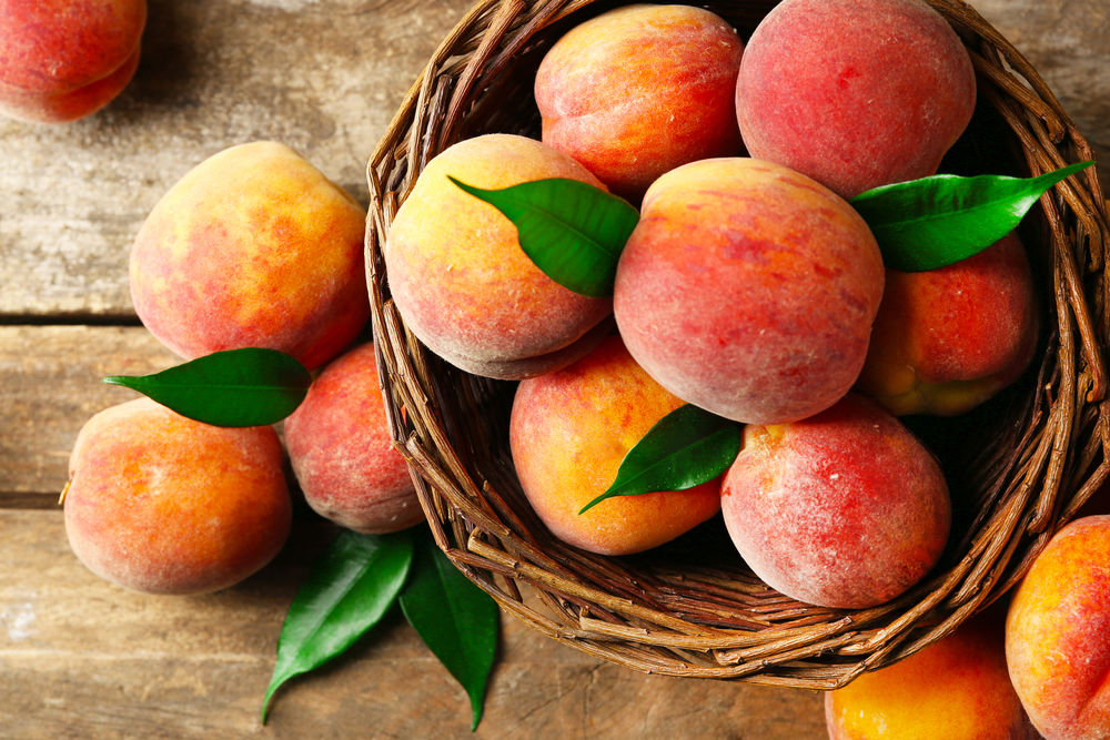 Peaches a good source of vitamins A, C and niacin