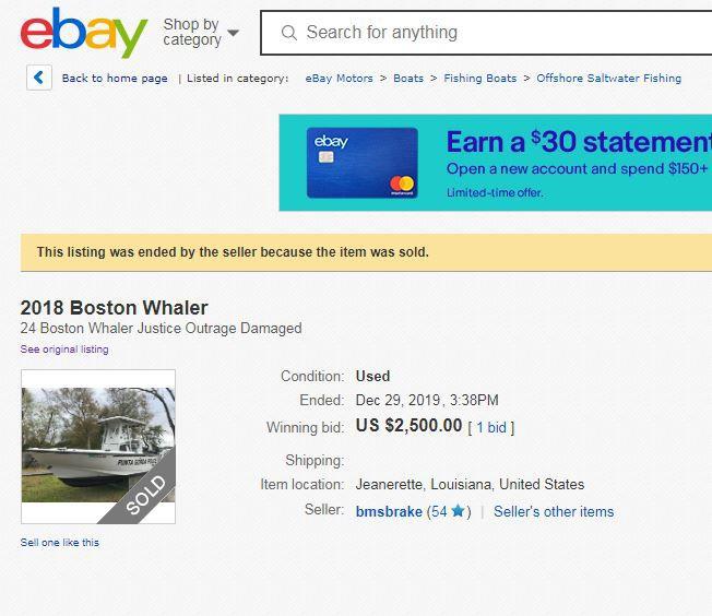 Wrecked Punta Gorda Police Marine Vessel Sells On Ebay News Yoursun Com