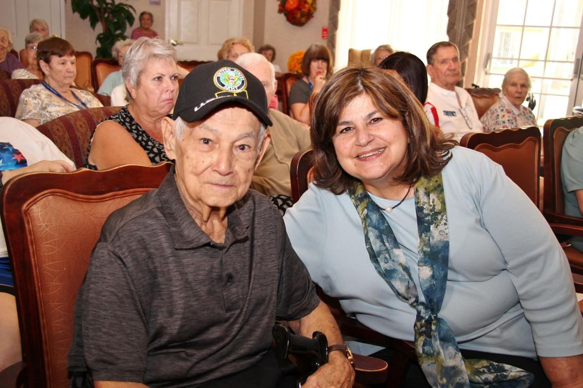 Honoring Veterans with pinning ceremony