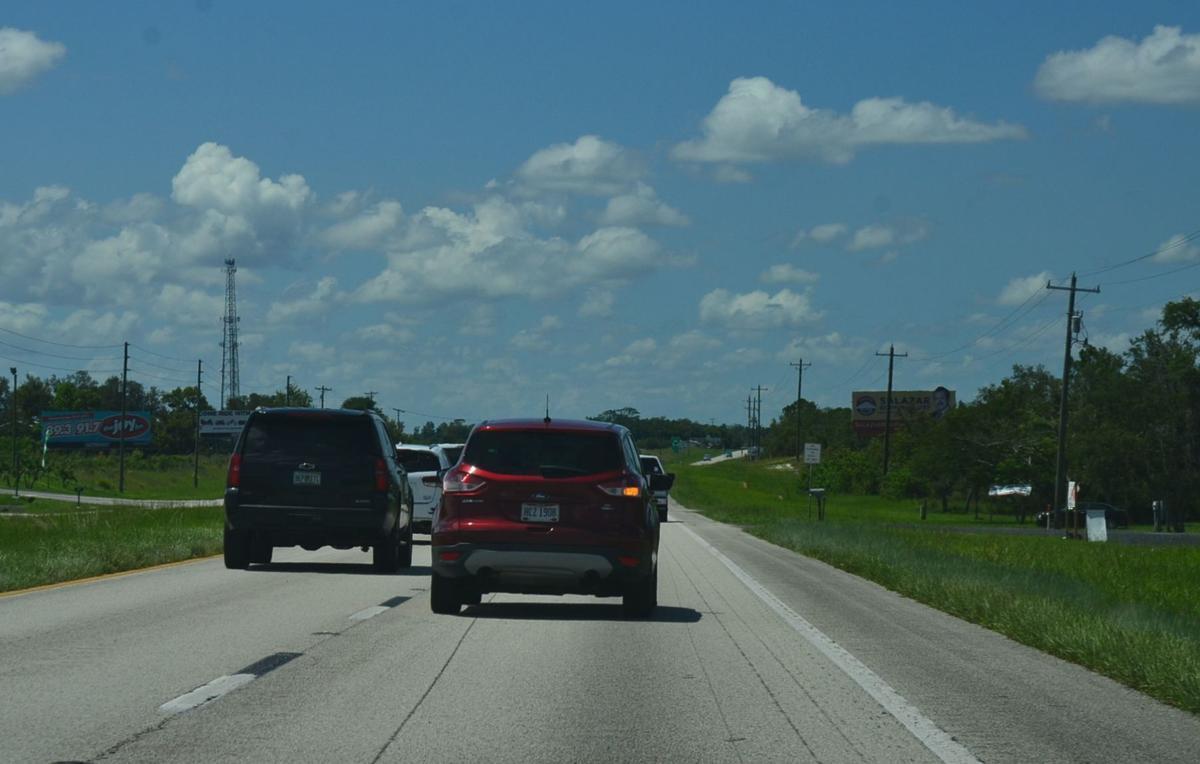 Traffic heading south to Lake Placid