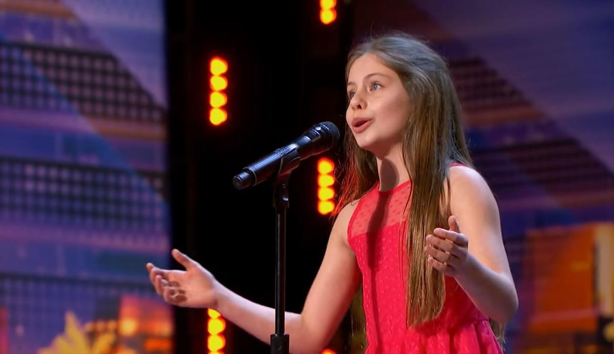 "Emanne Beasha singing on ""Amerca's Got Talent"""